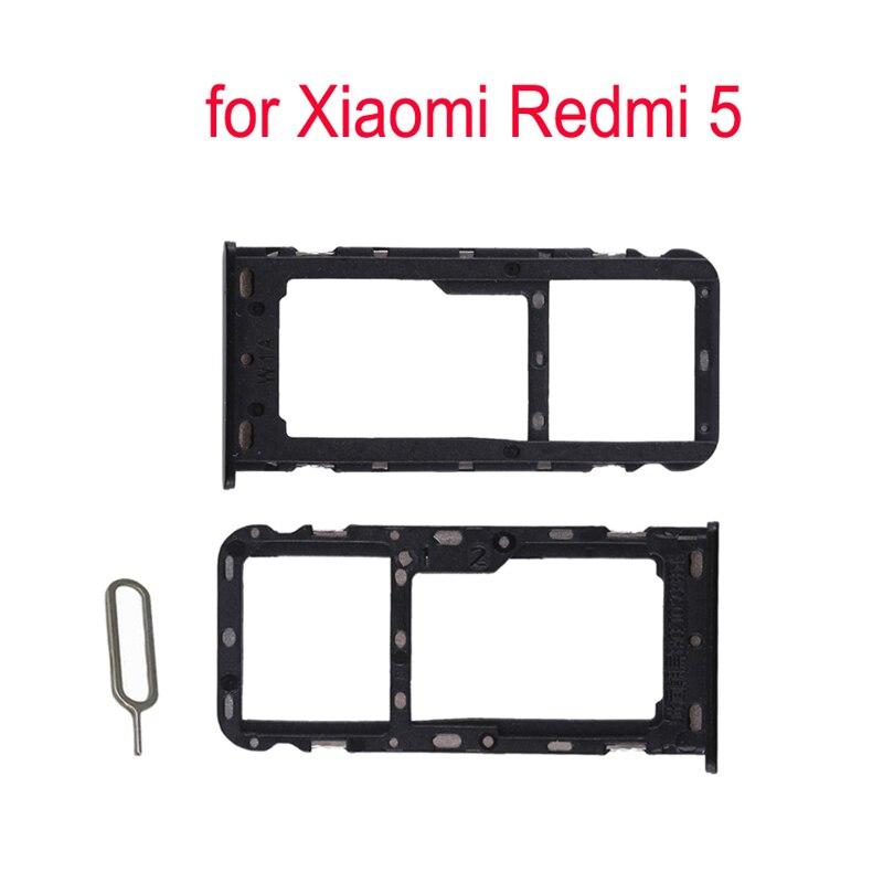 For XIAOMI Redmi 5 Original Phone SIM Card Tray Adapter For Xiaomi 5 Housing New Micro SD Card Tray