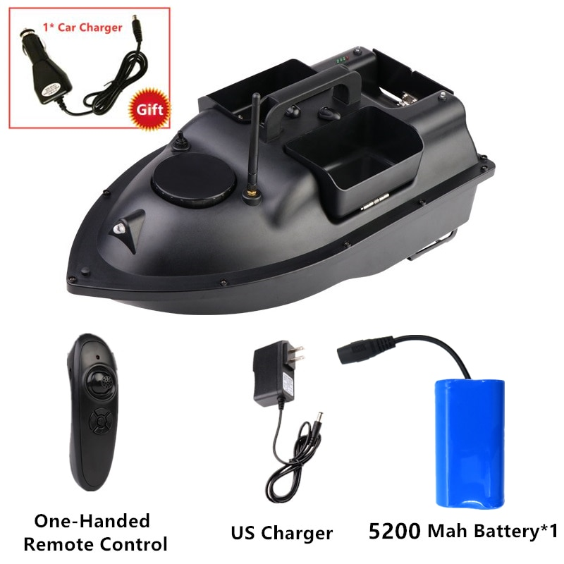 GPS Smart Return Fish Finder RC Cruise 500M Independentt Control 3 Hoppers LCD Screen Bait Boat