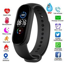 Reloj inteligente M5, pulsera con rastreador de actividad, Monitor de ritmo cardíaco y presión arterial, nuevo