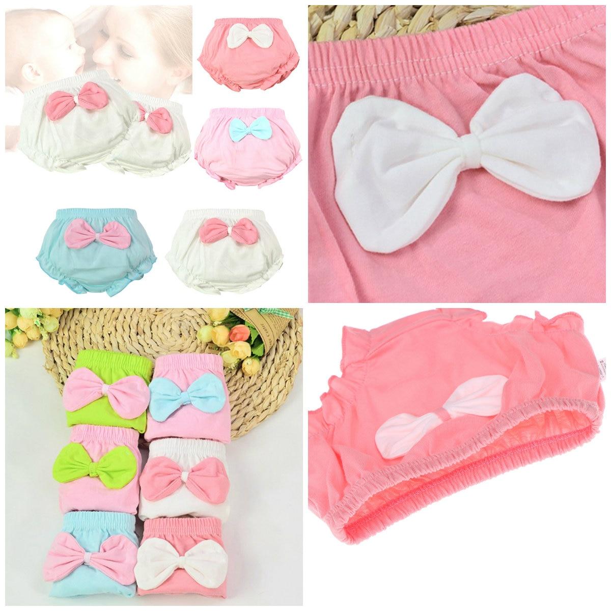 1PCS 4 Kleuren Kids Baby Leuke Grote Boog Katoenen Ondergoed Slipje Zuigeling Shorts Voor Kinderen Onderbroek Geschenken