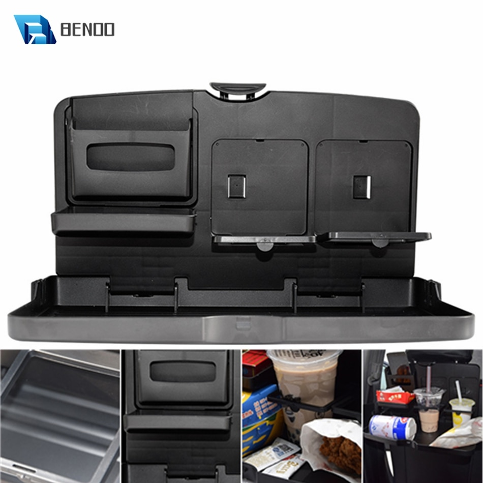 BENOO الأسود ABS متعددة الوظائف المحمولة طوي مقعد السيارة صينية أسود سيارة الجدول مقعد المحمولة للأغذية/وجبة/صينية وجبات خفيفة