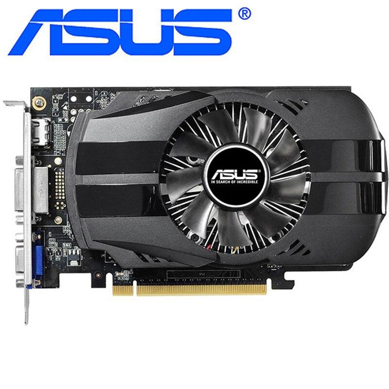 Видеокарта ASUS GT740 1 ГБ 128 бит GDDR5 видеокарты для nVIDIA Geforce GT 740 Hdmi Dvi используются карты VGA прочнее, чем GTX 650
