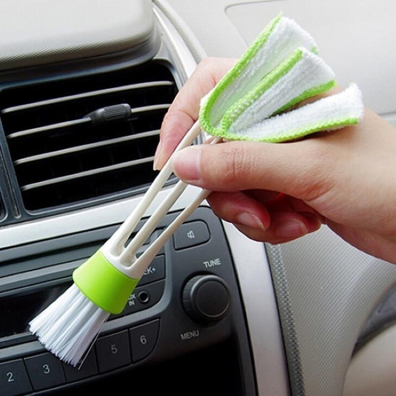 Щетка для вентиляционного отверстия автомобильного кондиционера, микрофибра для мытья автомобильных радиаторов, аксессуары для ухода за а...