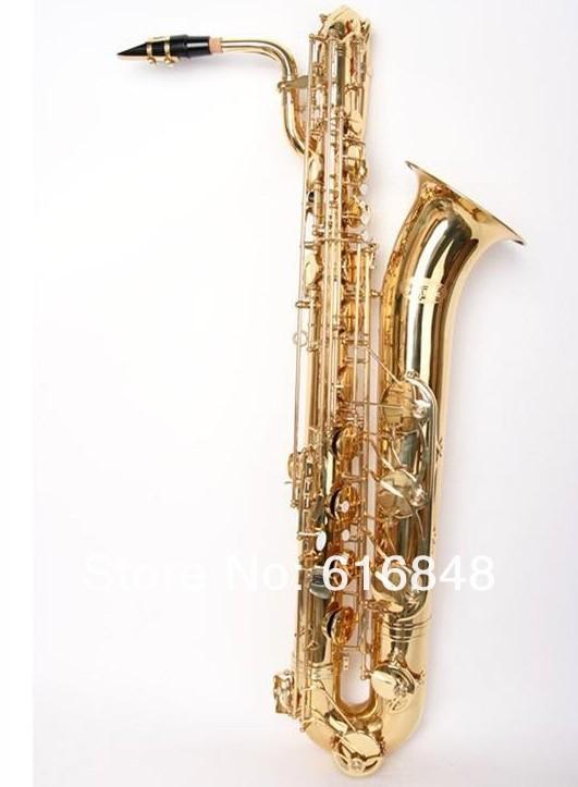 Alta calidad latón saxofón oro laca E plano Baritone Sax nuevo instrumento Musical con funda de boquilla