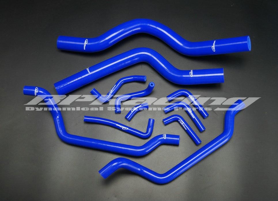 Силикон радиатор HEeat трубчатый насосный шланг комплект синего цвета для детей ростом от 90 91 92 93 94 MITSUBISHI ECLIPSE DSM 4G63T 1G