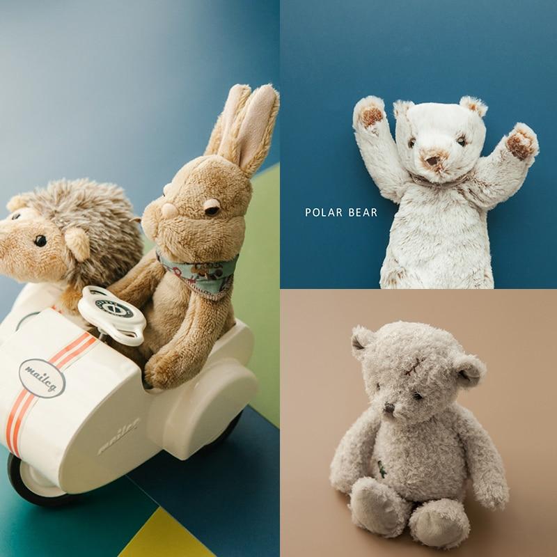 Реквизит для фотосъемки новорожденных куклы ручной работы милая игрушка кролик Тедди мишка Ежик аксессуары детские фото реквизиты детские...