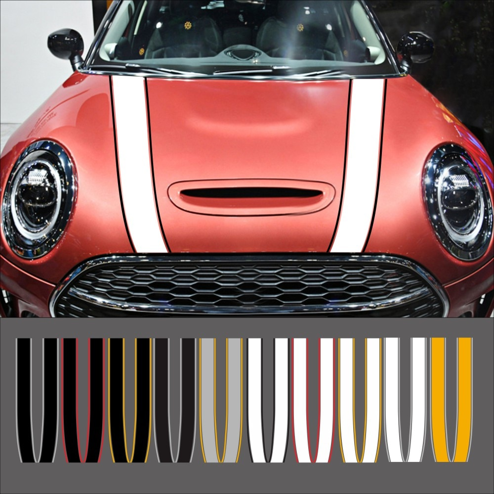 car trunk folding organizer cargo container box for mini cooper s jcw countryman clubman f55 f56 f60 r55 r56 r60 r61 car styling Car Engine Hood Bonnet Sticker Stripes Decals Decor For Mini Cooper S JCW R55 R56 R60 R61 F54 F55 F56 F60 Countryman Accessories