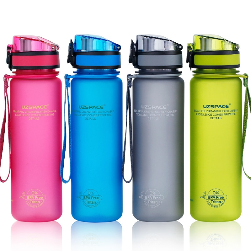 Water Bottles 500/1000ML Shaker Leakproof Outdoor Sport Direct Drinking My Bottle Tritan Plastic Eco