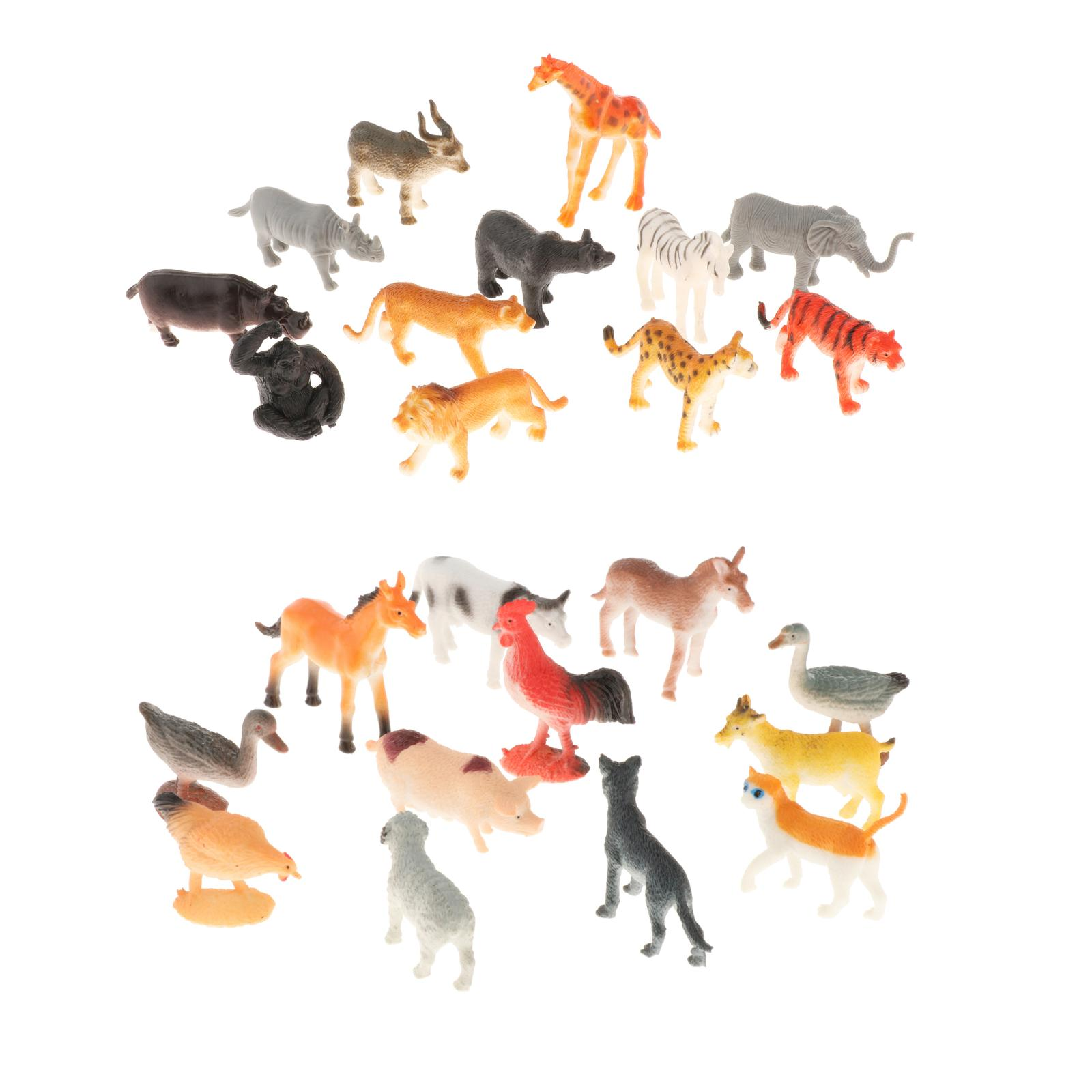 Montessori Matching Game Cards and Animal Figurines Toy for Toddlers Preschool Practical Life Material