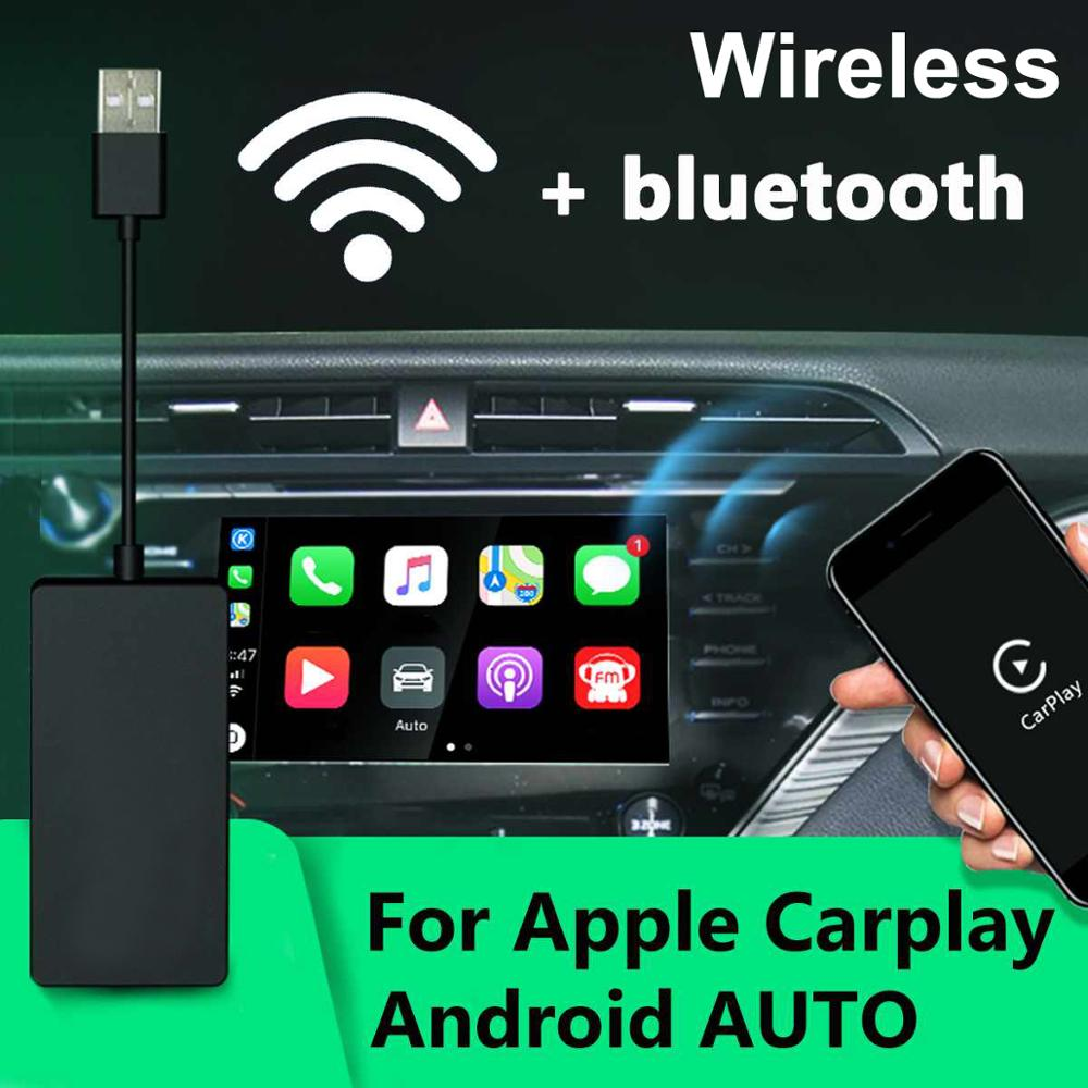 Bt wifi sem fio carplay dongle para android sistema de rádio tela do carro