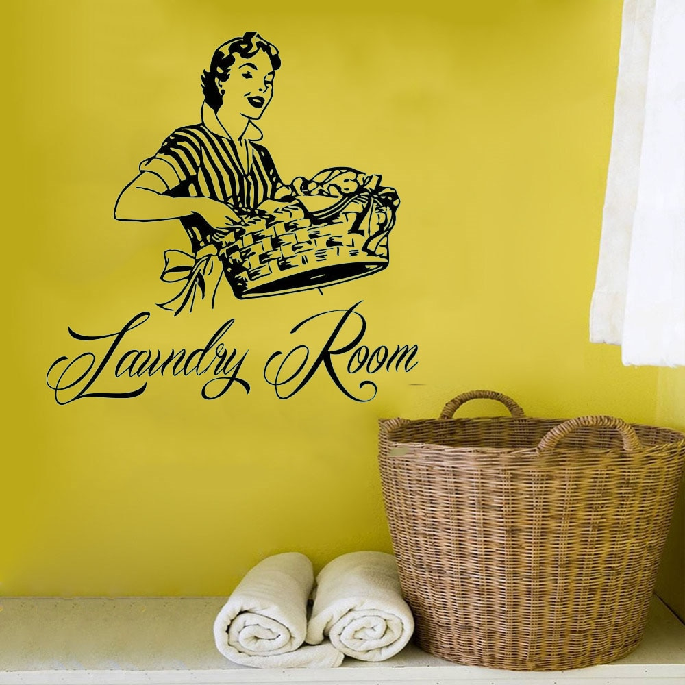 Laundry Room Wall Decal Vinyl Sticker Wash Room Bathroom Home Decor WE175