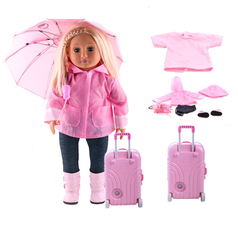handmade high quality doll shoes for blythe azone momokolati jerryb doll accessories toys gift girl play house free shipping Free Shipping Doll Clothes Seven-Piece Raincoat,18 American Doll & 43cm Doll Accessories Baby Girl Gift,Christmas Gift,Umbrella