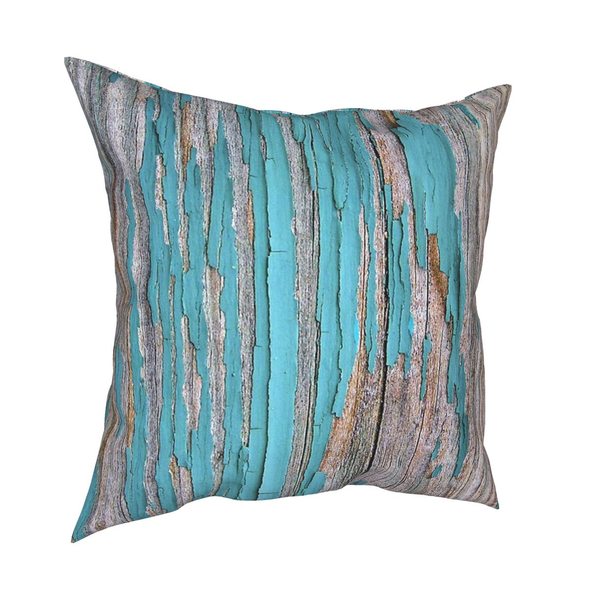 Shabby Rustic Weathered Wood Turquoise Cushions for Sofa Creative Cushion Covers Decorative Throw Pillows Cover for sofa home