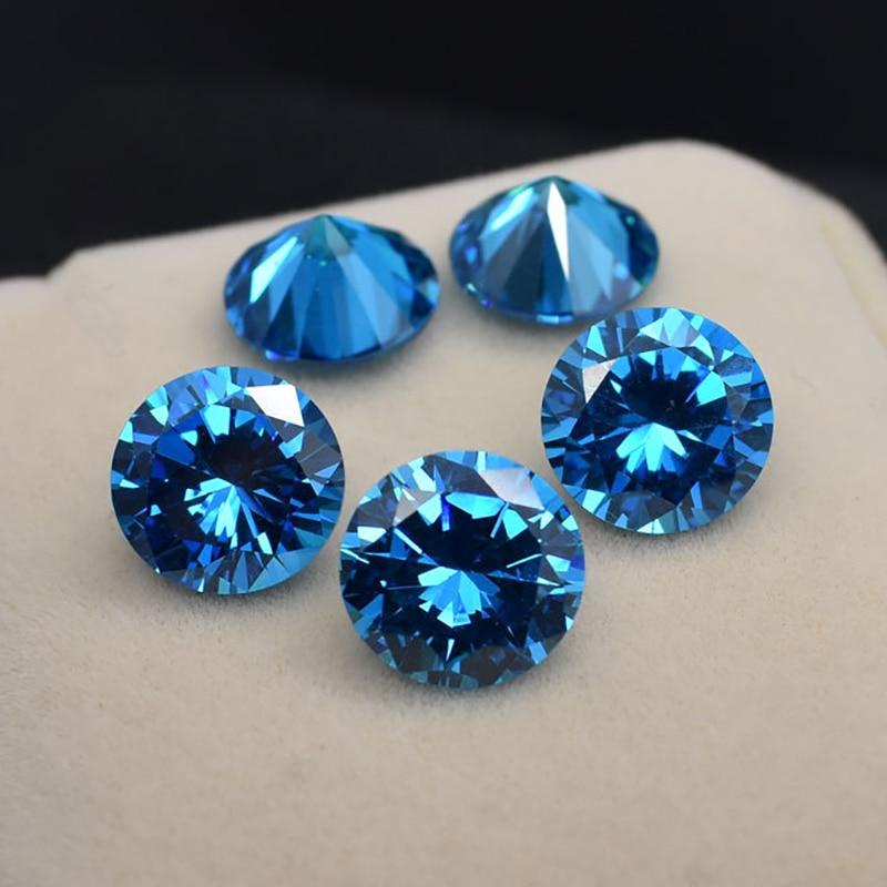 Ceylon Blue Aquamarine  Loose Gemstone 2.5ct VVS Stone of Jewellery Inlaid Necklace Ring 100% Natural Jewelry Making