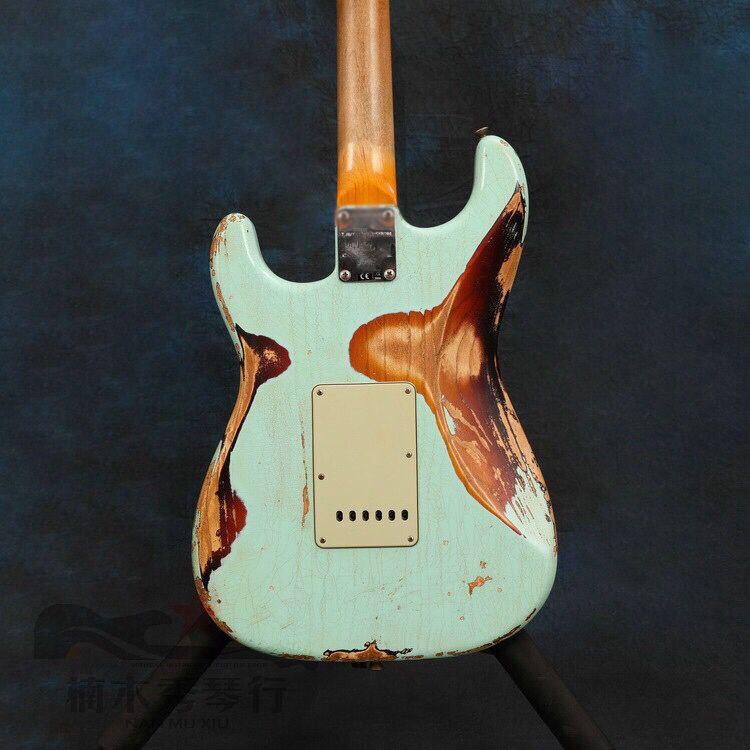 High quality Electric Guitar,Handmade 6 stings guitarra.rosewood fingerboard gitaar.relics by hands. enlarge