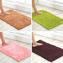 Tapis surélevé solide tapis salle de bain moderne tapis de bain en molleton de corail tapis de bain en mousse à mémoire de forme tapis de douche antidérapant tapis de pied dabsorption deau
