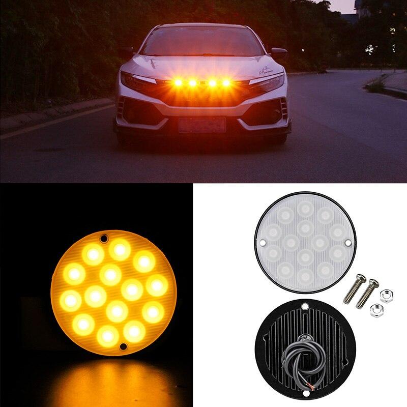 14 светодиодов Предупреждение боковой стробоскоп, сигнальная лампа, автомобильный грузовик, прицеп, стробоскоп, предупреждающий свет, мигаю...
