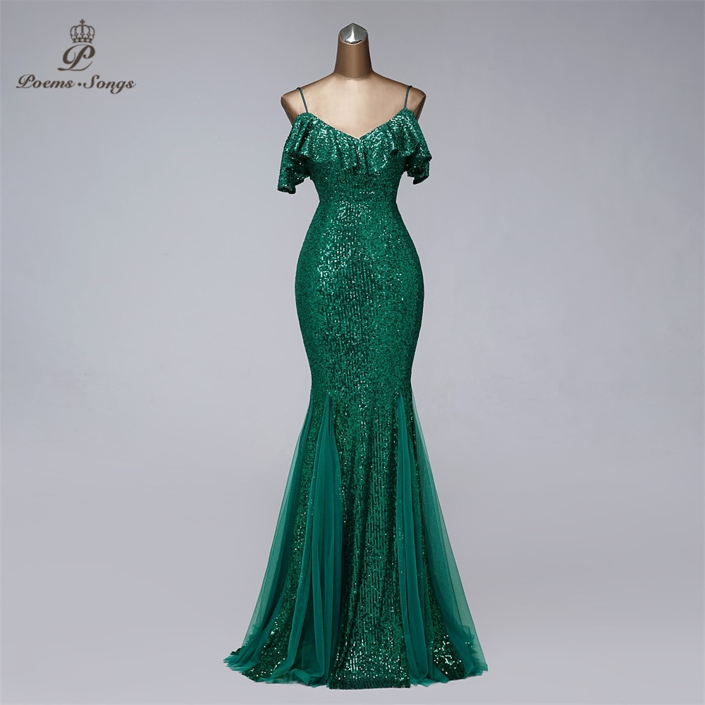 فستان سهرة بتصميم حورية البحر ، موديل جديد ، مثير ، للنساء ، فستان سهرة ، مع أحزمة ، ملابس رسمية ، مجموعة 2021