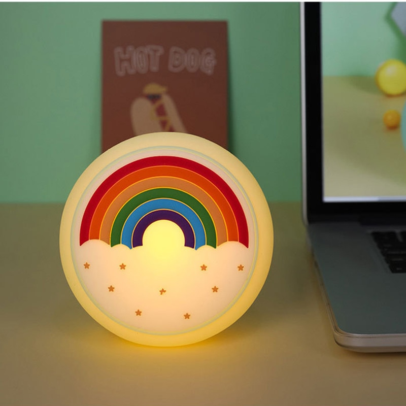 Avocado Rocket Dinosaur Donuts Rainbow Silicone Lamp Silicone Lamp LED Cartoon Pat Color Voice Control Induction Atmosphere Lamp  - buy with discount