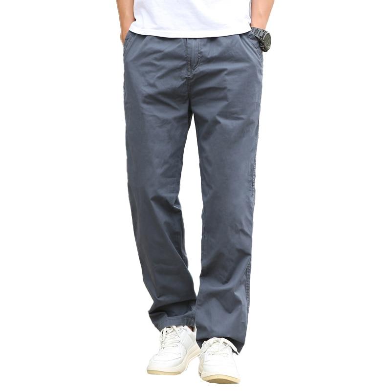 حجم M-6XL الرجال السراويل البضائع غير رسمية بنطلون للرجال الملابس الرياضية Sants العسكرية نمط رجل فضفاض بلون السراويل حجم كبير
