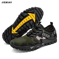 jiemiao summer men hiking shoes mesh breathable mountain trekking shoes outdoor anti skid men sneakers quick dry water shoes