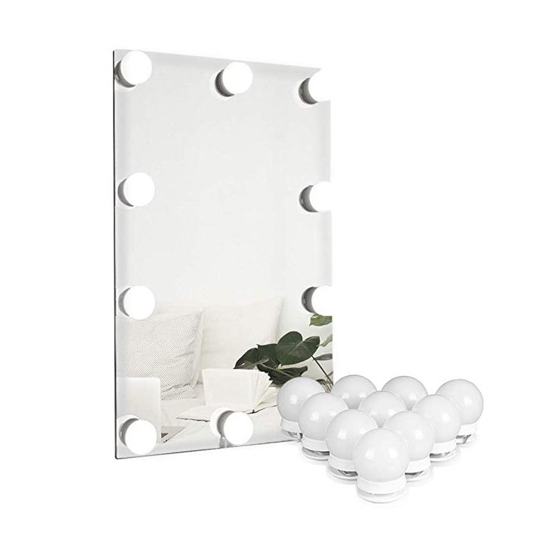Juego de luces de espejo de tocador de actualización de mesa de maquillaje bombillas de lámpara Led círculo Hollywood completo profesional de vestir de interior Kit de luz USB