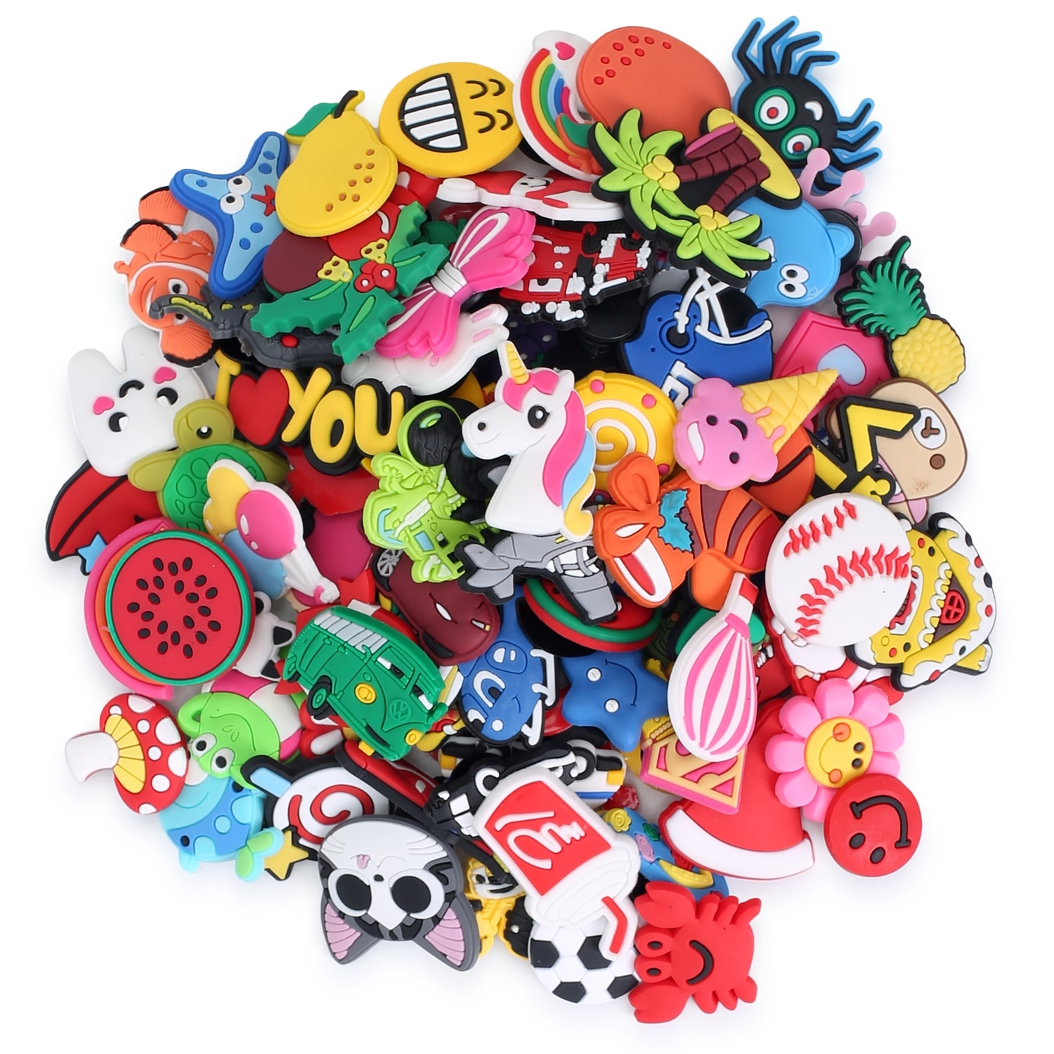 Package mail 1000PCS Hot Cartoon PVC Shoe Charms Accessories Animals Medical Crystal Flower JIBZ fit Croc Bracelets Kids Gift