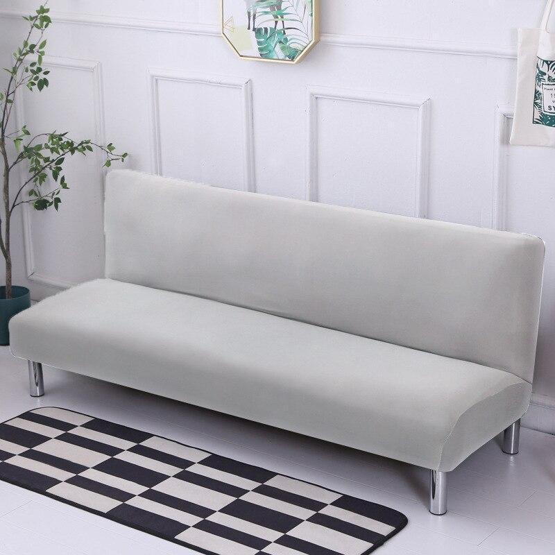 غطاء سرير أريكة قطيفة سميك ، غطاء أريكة شامل كليًا ، بدون مسند للذراعين ، بدون درابزين ، واقي حصيرة ثلاثة مقاعد