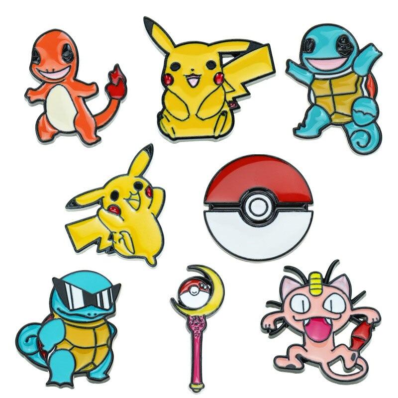 Супер монстр Пикачу Pokemon Go Pokeball брошь и эмалированная булавка