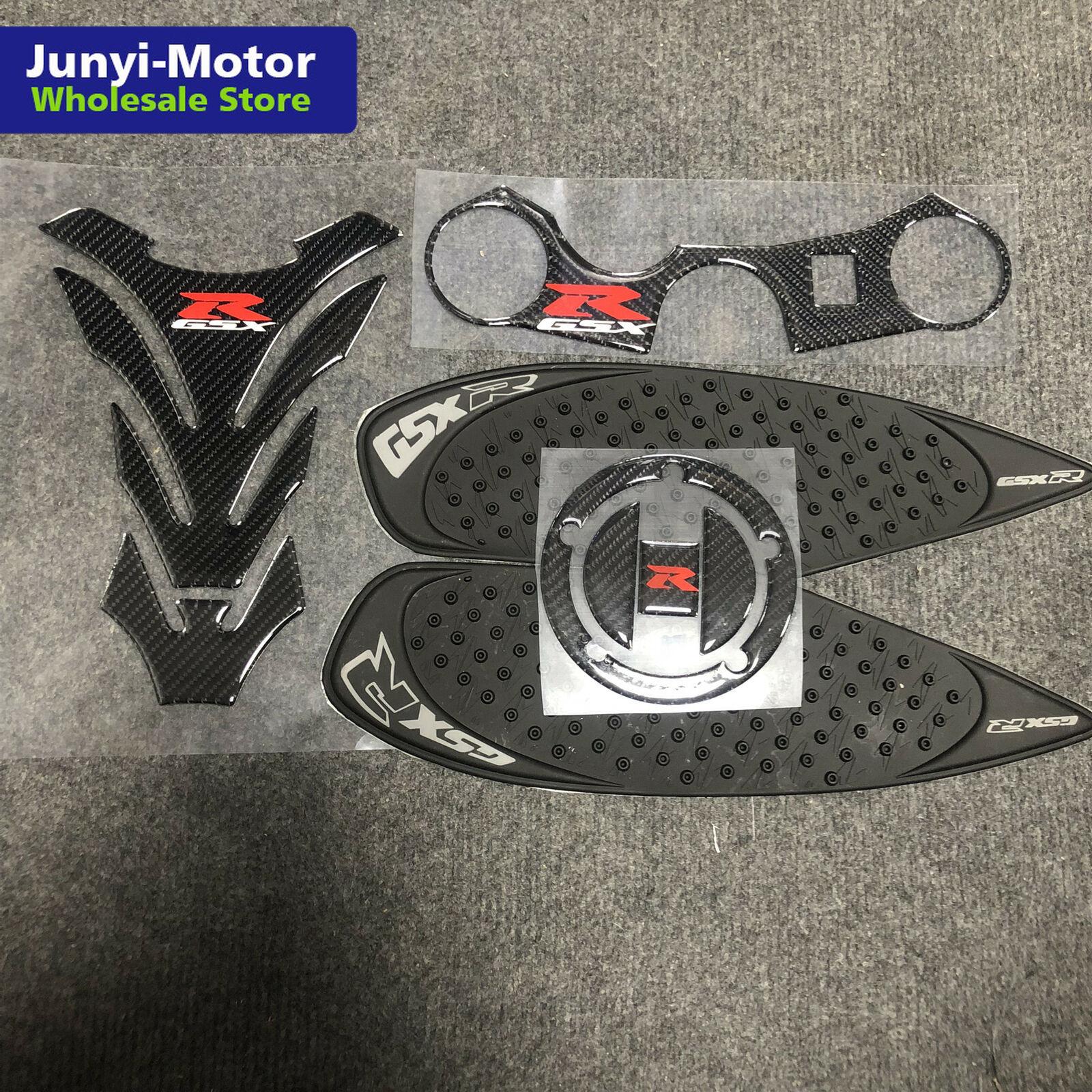 Накладка на бак мотоцикла с тройным передним концом, верхний зажим, наклейка из углеродного волокна для Suzuki GSX-R GSXR 750 600 K6 K8 2006-2010