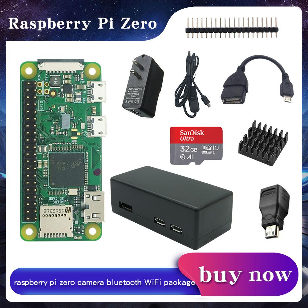 Raspberry Pi NULL/NULL W/NULL WH kit Kit + fall + Kühlkörper + GPIO Header + optional 32GB SD Karte/Power Adapter für RPI null