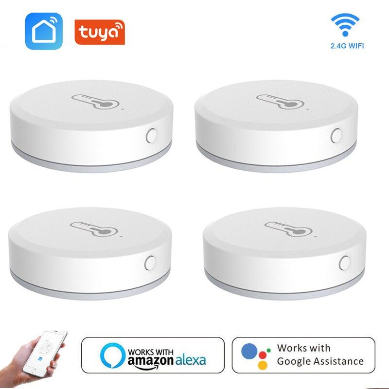 Tuya ZigBee Mini Temperature Humidity Sensor Smart Life APP Smart Home Building Automation No LCD Screen Display