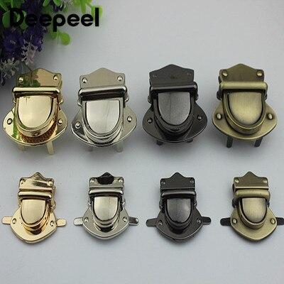 Deepeel 2/5pcs 29X39mm/57X40mm Metal Lock Clasp Bag Plug Lock Snap Buckle DIY Handbag Purse Deco Replacement Hardware Accessory