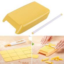 Plastic Pasta Macaroni Board Spaghetti Macaroni Pasta Gnocchi Maker Rolling Pin Baby Food Supplement Molds Manual Kitchen Tool #