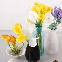 calla 5 10 30 heads lily artificial bridal wedding bouquet head latex real touch artificial flower wedding decoration