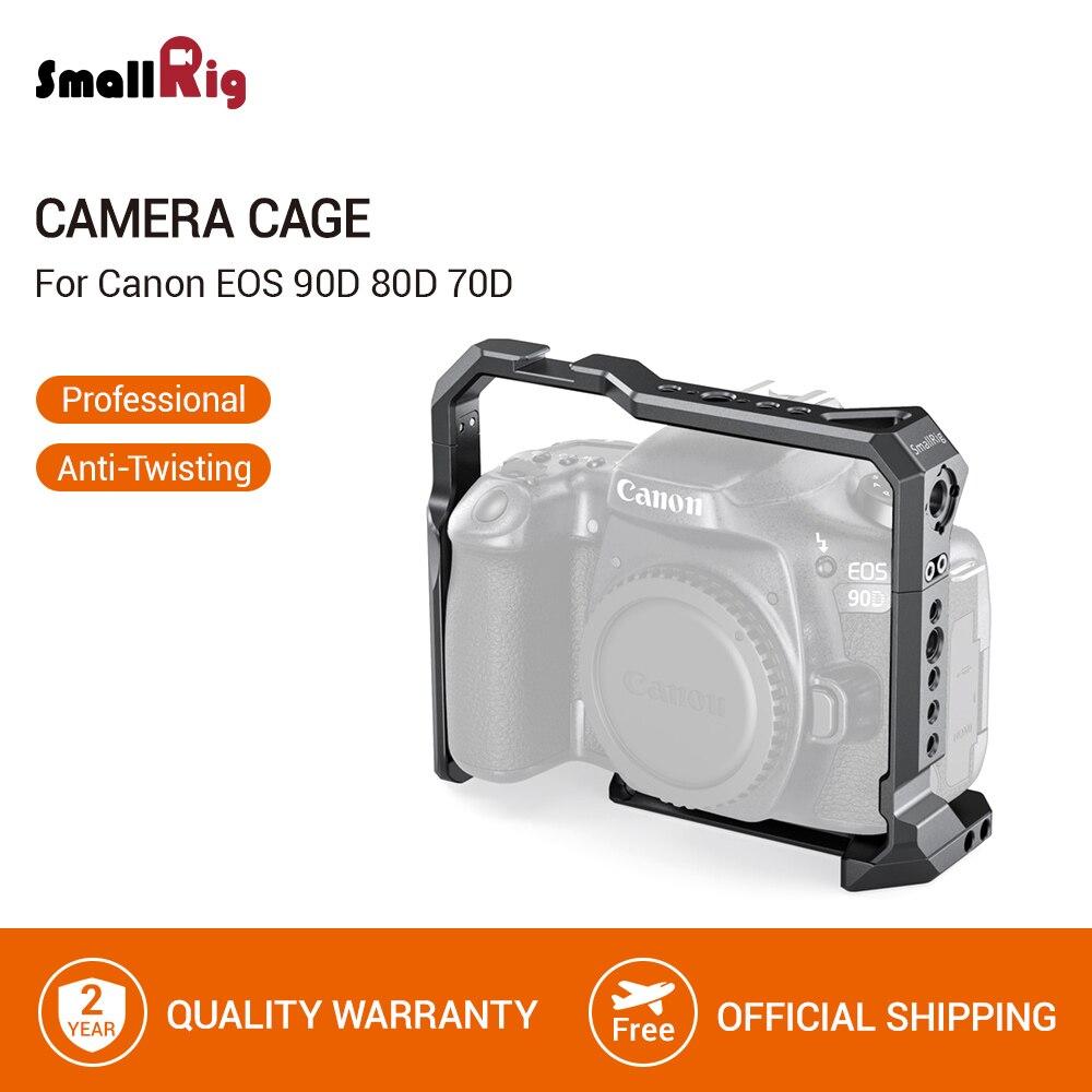 SmallRig Dslr клетка для Canon EOS 90D 80D 70D камера клетка с холодным башмаком Smallrig клетка быстросъемный Штатив Поддержка клетка-2658