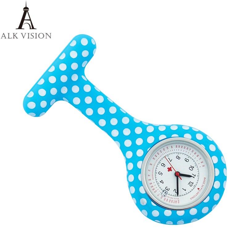 Relógio com Calendário Presente para Enfermeira Dots Silicone Enfermeira Bolso Médico Hospital Relógios Dropshipping Aceitar Oem Alk Fob