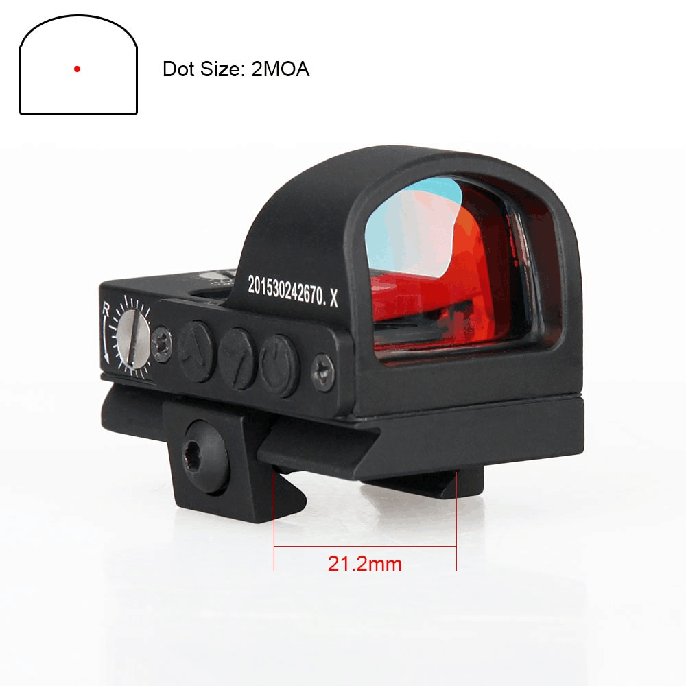 Canis Latrans táctico Reddot Mini Vista de punto rojo alcance aumento 1X negro para caza al aire libre PP2-0078