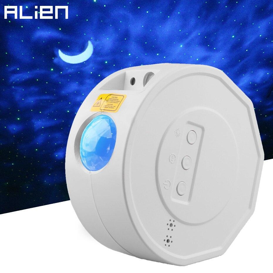 Alienígena recarga led colorido céu estrelado projetor estrela noite luz laser onda oceano férias crianças sala de festa som luzes ativas