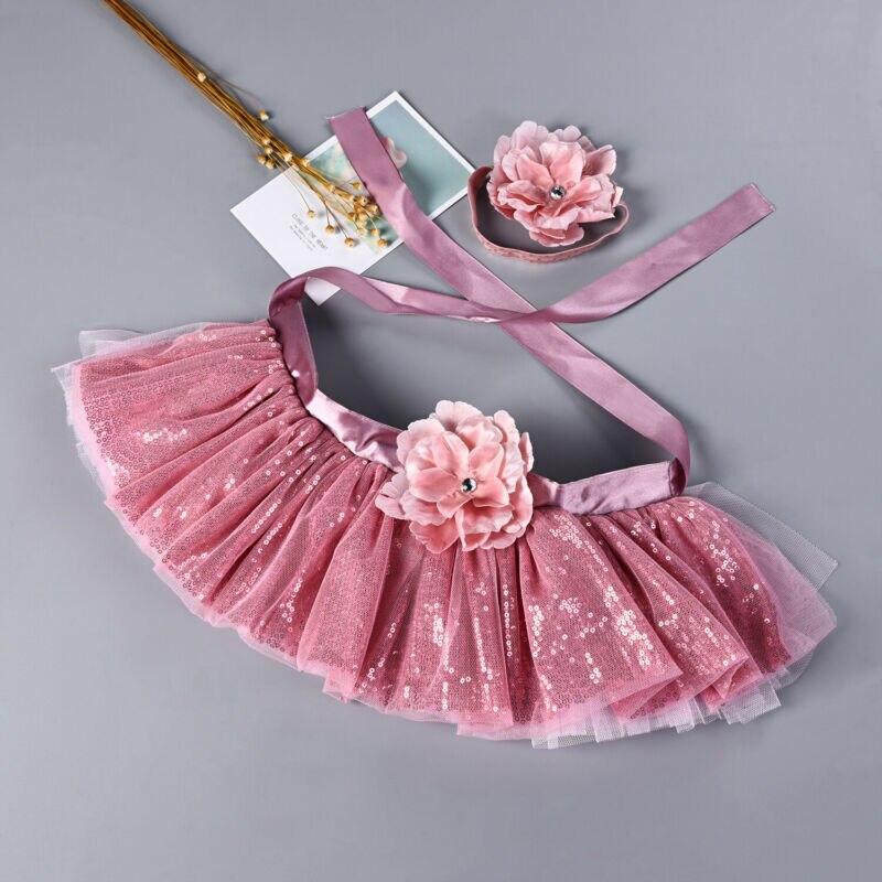 Niñas pequeñas de 0 a 8T falda tutú infantil de lentejuelas niña diadema falda tutú foto de fotografía accesorio atuendo ropa
