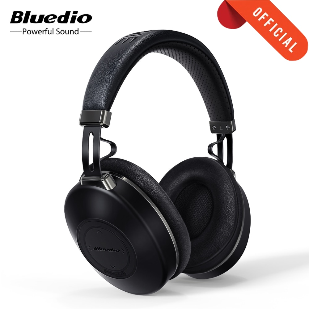 Bluedio H2 Wireless Headphones ANC Bluetooth 5.0 Headset HIFI sound step counting SD card slot Cloud function APP 57mm drive