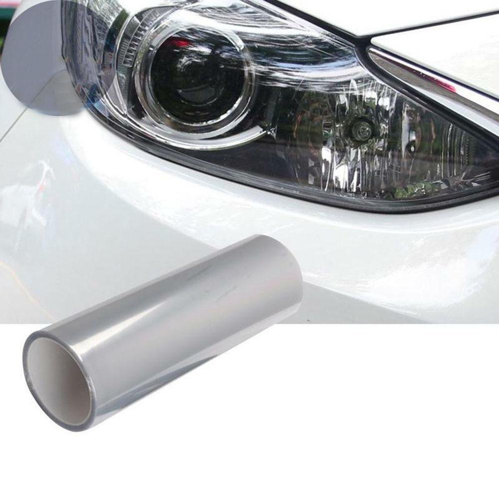 Глянцевая 3-слойная защитная пленка 60 см для автомобильных фар, наклейка, защитная пленка против царапин для автомобильных фар