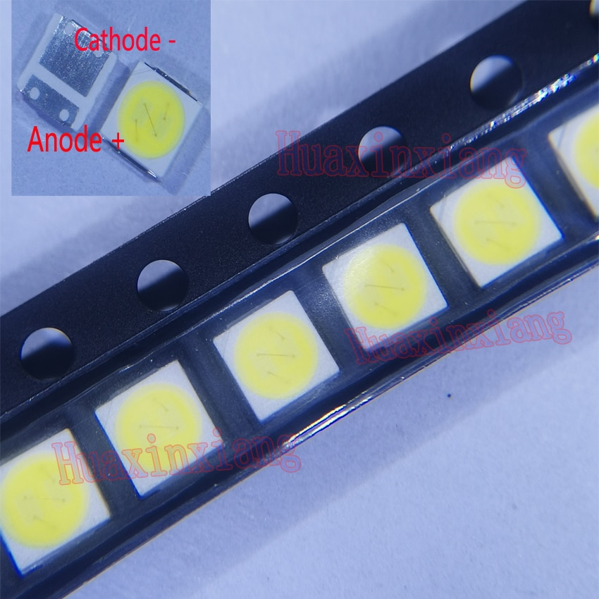 500 قطعة/الوحدة Lextar SMD LED 3030 6V 2W الباردة الأبيض المزدوج الباعثة لل رقائق عالية الطاقة للتلفزيون الخلفية التطبيق