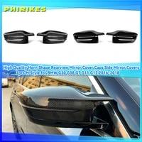 carbon fiber exterior side rearview mirror cover trim for bmw 35678 series g11 g12 g14 g15 g16 g20 g21 g30 g31 g32 2019 2020