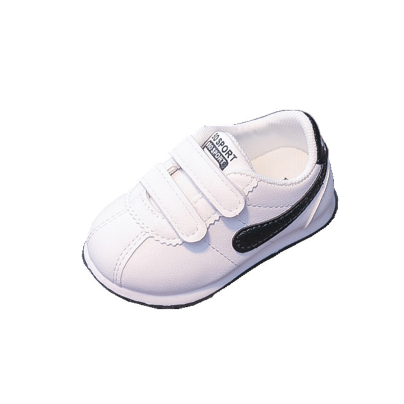 2018 spring autum new infant sports baby boy shoes of children 1 3 years toddler soft bottom hook Baby Boy Shoes for 1 Year Old Soft Bottom Toddler Shoes Girl Stripe Newborn Hook Loop Flat Sneakers Infant Fall Shoes D09251