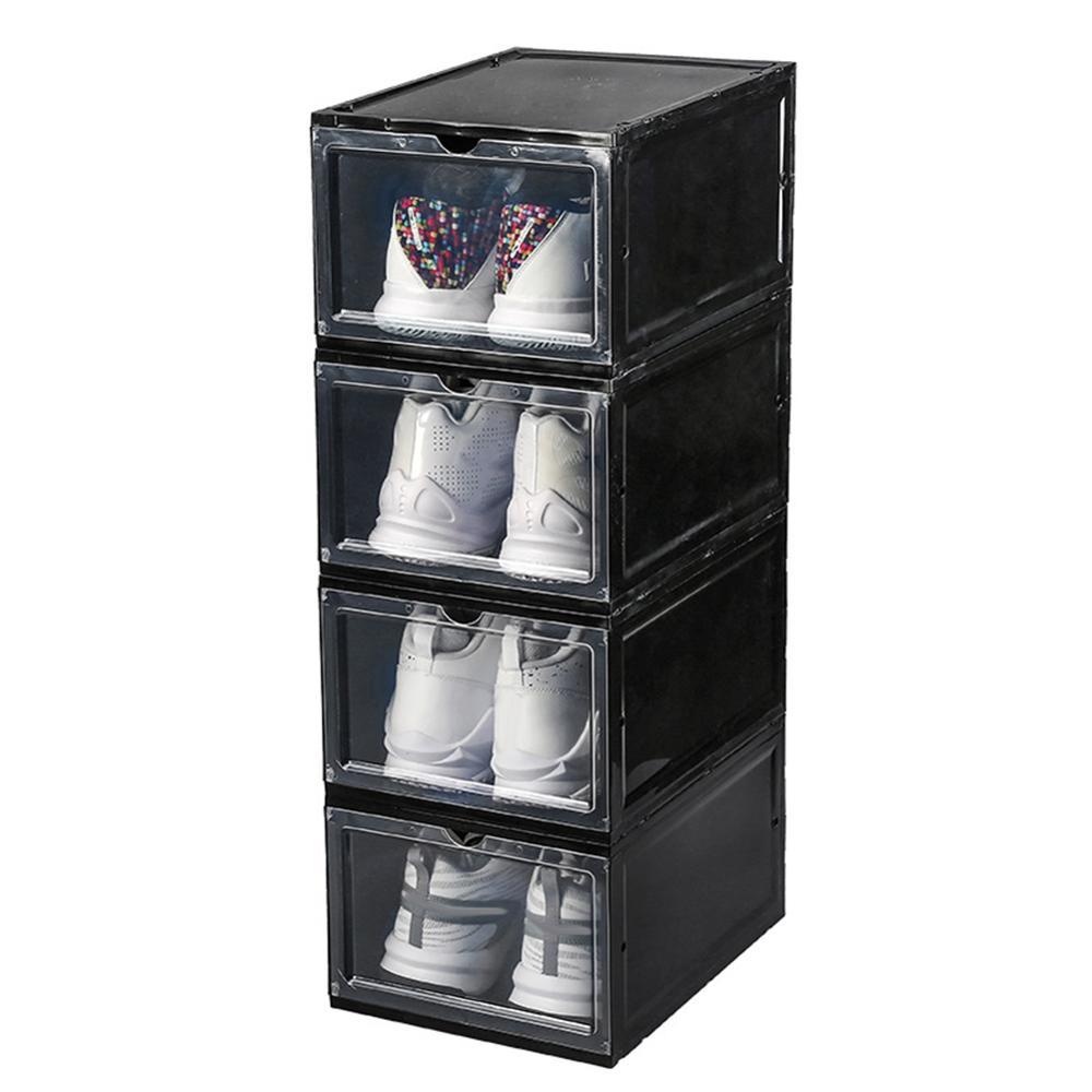 Caja de almacenamiento apilable a prueba de polvo para zapatos, organizador de...