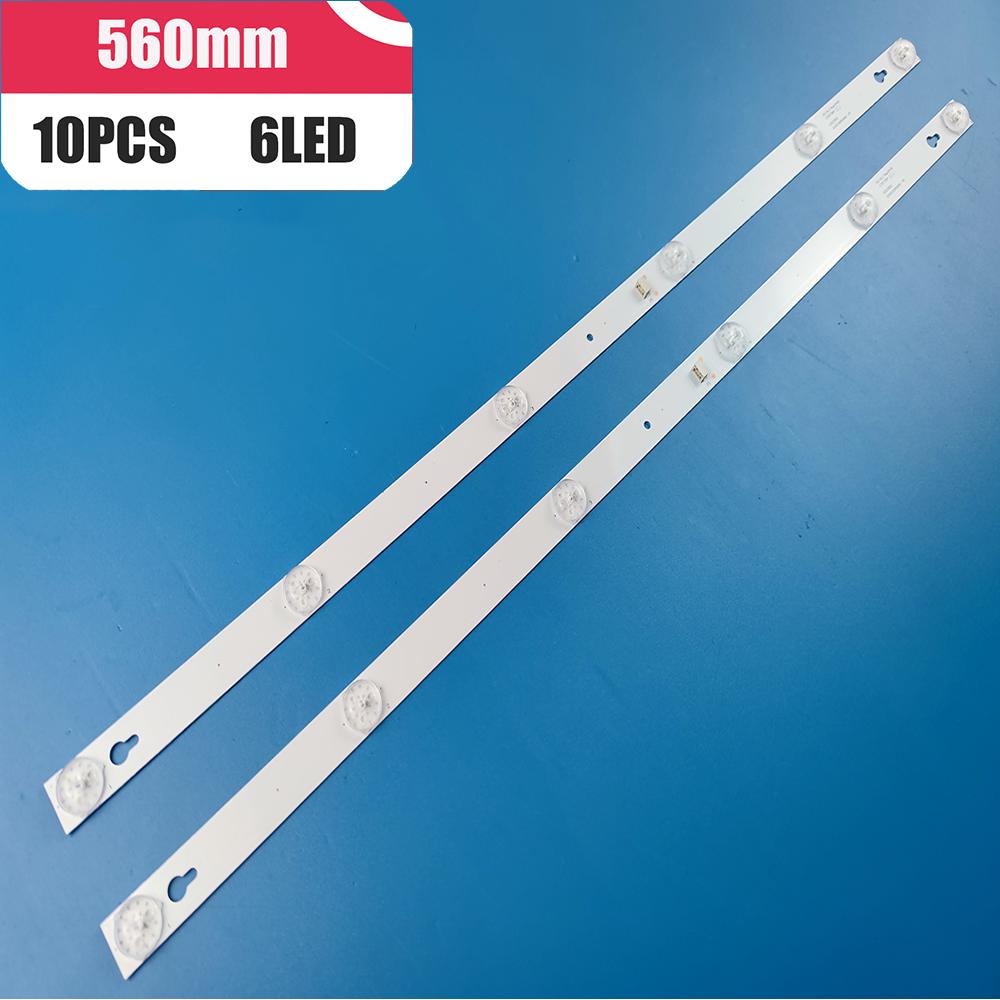 10 قطعة 6LED LED شريط إضاءة خلفي ل 32HB5426 TCL 32D100 L32S4900s 32S301 L32P1A 4C-LB3206-HR03J HR01J TOT_32D2900 32HR330M06A5 V5