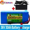 Akumulator 36V 10S4P 30Ah akumulator 500W akumulator o dużej mocy 42V 30000mAh Ebike rower elektryczny BMS + 42v ładowarka