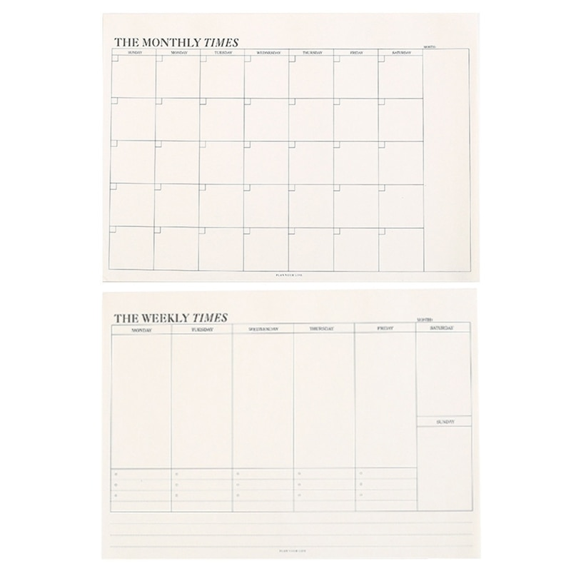 60 sheets Creative Simple Office School Supplies Stationery Notebook Memo Tearable Weekly Monthly Work Plan Schedule Notepad new products on the shelves lovely flowers schedule diary weekly plan notebook school office supplies lovely stationery