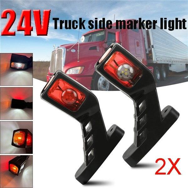 2 шт. 3 цвета светодиодный ные Автомобильные фары 12-24 в водонепроницаемые боковые знаки для прицепов и грузовиков